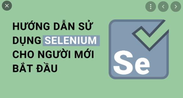 Hướng dẫn cách sử dụng Selenium